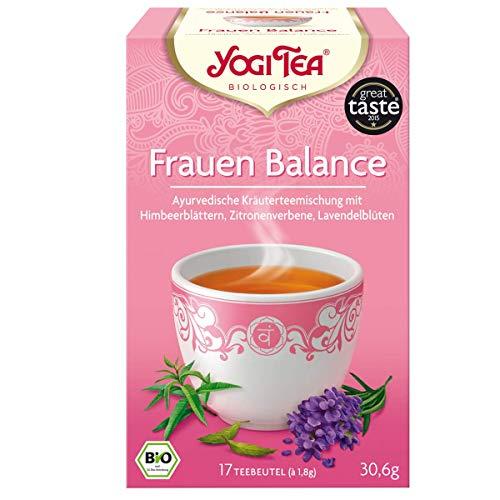 Yogi Tee Frauen Balance 30,6 Gramm - Bio Yogi Tea im Teebeutel 17 Stück - Ayurvedische Kräuterkomposition - Bremer Gewürzhandel