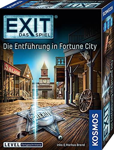 KOSMOS 680497 EXIT Das Spiel - Die Entführung in Fortune City, Level: Fortgeschrittene, Escape Room Spiel, für 1 bis 4 Spieler ab 12 Jahre, einmaliges Event-Spiel, spannendes Gesellschaftsspiel