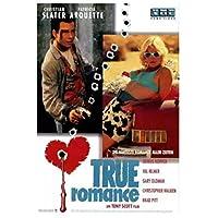 トゥルーロマンス映画クリスチャンスレーターパトリシアアークエットデニスポスターウォールアートリビングルームの装飾のためのキャンバスにプリント家の装飾60x80cmフレームなし