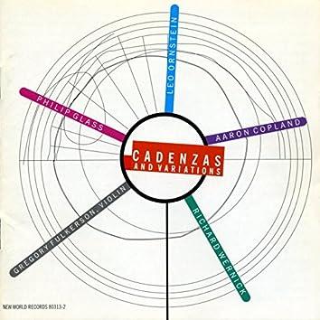 Cadenzas & Variations - Violin Music