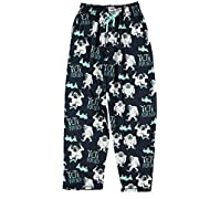 Lazy One Pajama Pants for Men, Men's Separate Bottoms, Lounge Pants, Mythical Creature, Winter (Yeti for Bed, X-Large)