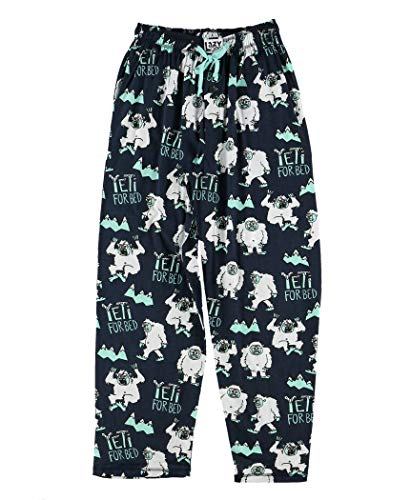 Lazy One Pajama Pants for Men, Men's Separate Bottoms, Lounge Pants, Mythical Creature, Winter (Yeti for Bed, Medium)