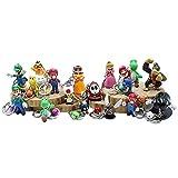 【18個】スーパーマリオ キーホルダー【長さ6 cm】 MarioスーパーマリオPVCフィギュアモデルかわいいゲーム金属キーチェーン
