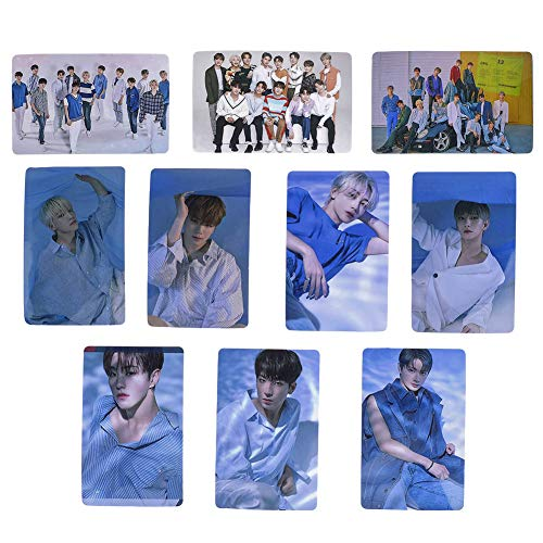 Yuxareen Kpop SEVENTEEN Album [ HIT ] Foto Postkarte Unterstützung Lomo Karten Set New Album Collective Photocard Poster Geschenk für FANS(10pcs)