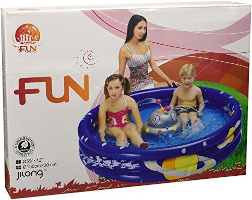 Jilong Ufo Spray Pool Ø150x30cm Kinderpool Planschbecken Schwimmbecken Wassersprüher Wasserspielzeug