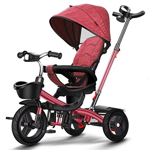 Find Bargain Moolo Baby Tricycle, Children Trike 3 Wheeler Plus Folding Pedal for 1-6 Year Ride-On B...