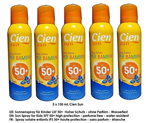 Cien Sun Sonnenspray für Kinder LSF 50+ Hoher Schutz UVA + UVB / 5 x 150 mL
