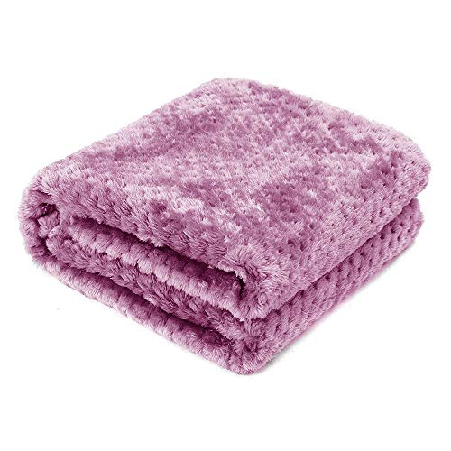 AcserGery Flauschige Hundedecke 100x120cm Super Softe Warme und Weiche Decke für Haustier Hundedecke Katzendecke (Rote Bohnenpaste)