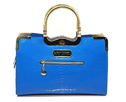 Schutzengel Handtasche Maritschka (blau) Damen Henkeltasche