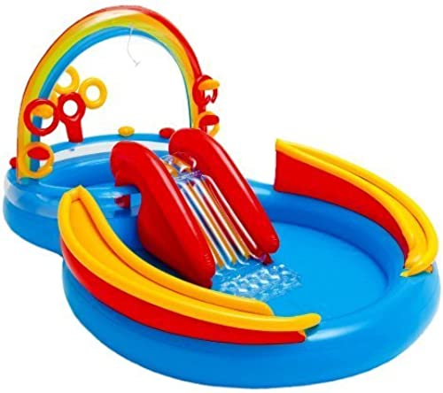 Intex 117-by-76-by-53-Inch Rainbow Ring Pool Play Center by Intex TOY (English Manual)