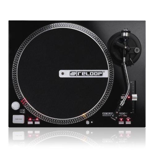Reloop RP-4000M – DJ Plattenspieler mit starkem Torque Direktantrieb, Pitchbereich (±10%/±20%) mit Quartz-Lock Arretierung, (schwarzmetallic)