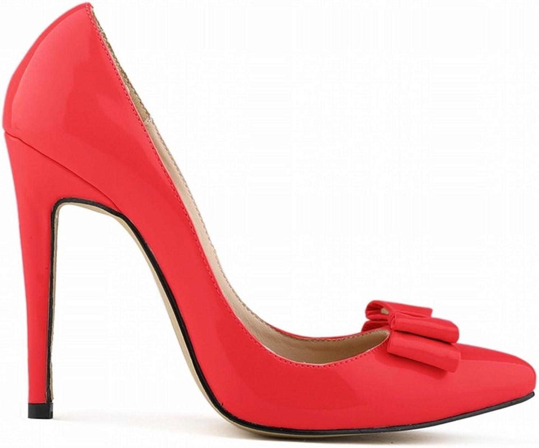 Dolwins Women's Fashion Pointed Toe Sweet Bowtie Stilettos High Heel Slip-on Suede Dress Pumps