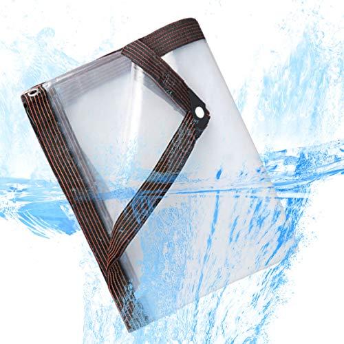 XIGG Tarps Transparent Clear, Tarpaulin Heavy Duty Waterproof, Tarp with Metal Grommets, Tarp for Gazebo, Exhibition, Camping, Fishing,2mX2m/6.5x6.5ft
