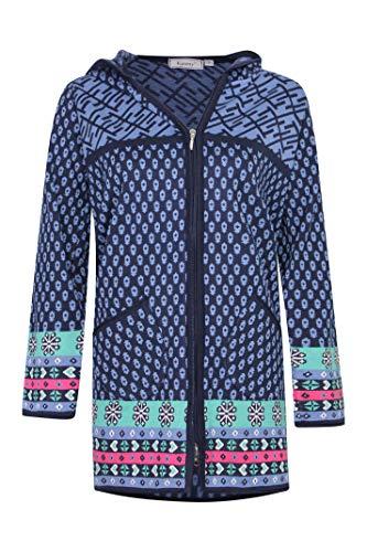 Kimmy Jeans Damen Strickjacke Marine Multi (L)
