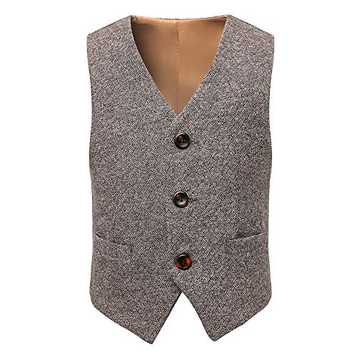 PLwedding Boys' Formal Suit Vest Linen Size 2