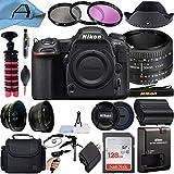 Nikon D500 DSLR Camera 20.9MP CMOS Sensor with AF FX NIKKOR 50mm f/1.8D Lens, SanDisk 128GB Memory Card, Gadget Bag, Tripod and A-Cell Accessory Bundle (Black)