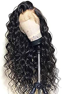 360 Lace Frontal Wig Loose Wave Human Hair Wigs Pre Plucked with Baby Hair Brazilian Virgin Remy Human Hair 360 Lace Wigs for Black Woman 150% Density Nature Color 20 inch