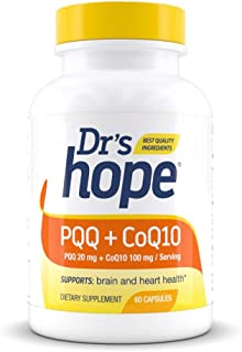 Dr's Hope PQQ (Pyrroloquinoline Quinone) 20 mg + CoQ10 (Ubiquinol) 100mg - Supports Nerve Growth Factor in Mental Support ...