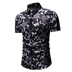 🌍 Material:Polyester ------What you get:1 X Shirt 🌍.It is made of high quality materials,durable enought for your daily wearing.Stylish and fashion design make you more attractive.Perfect Match with your favorite shorts,leggings, black slacks, denim ...