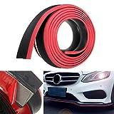 Universal Car Lip Skirt Protector Car Front Bumper Surround Protección Strip Splitter Goma Spoiler - Rojo y Negro de Dos Tonos 2'x98