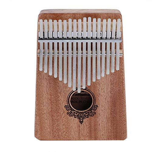 Dilwe Kalimba Pulgar Piano, Caoba 17 Clave Finger Piano con
