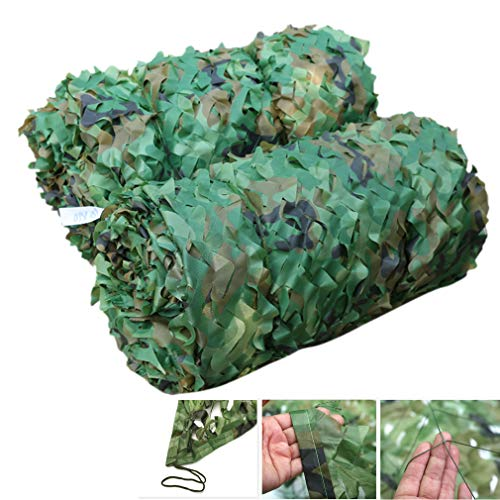 NIANXINN Camouflage Net,Shade Cloth Net for Garden,Military Army Hunting Forest Camo Net for Camping,Outdoor Sun,Party Decoration Theme,Car Sunblock Mesh Covers,Customize(5x10m/16.4x32.8ft)