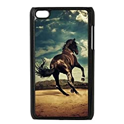 Horse Racing Customized Durable Hard Plastic Case Cover LUQ262378 For Ipod Touch 4