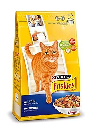 Purina Friskies Pienso para Gato Adulto Atún y Verduras 6x1,5 Kg (Total 9kg)
