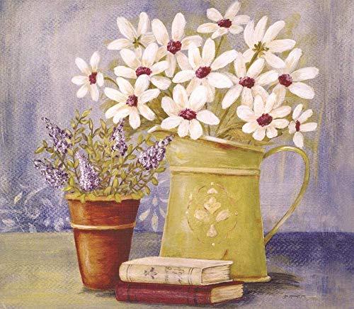 1000 kappaleen puinen palapeli,Olieverfschilderij Vaas met kleine bloemen Kinderen Houten puzzels Volwassenen Spel DIY Room Decor Puzzel