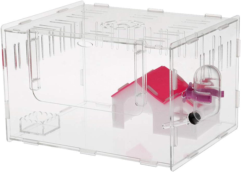 Baoblaze Acrylic Hamster House Mouse Castle Habitat Mice Rat Cage Transparent Hamster Supplies  L
