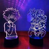 Hunter X Hunter 3D Lámparas de anime para niños dormitorio decoración lámpara de noche con sensor de movimiento LED noche lámpara de mesa Dropshipping