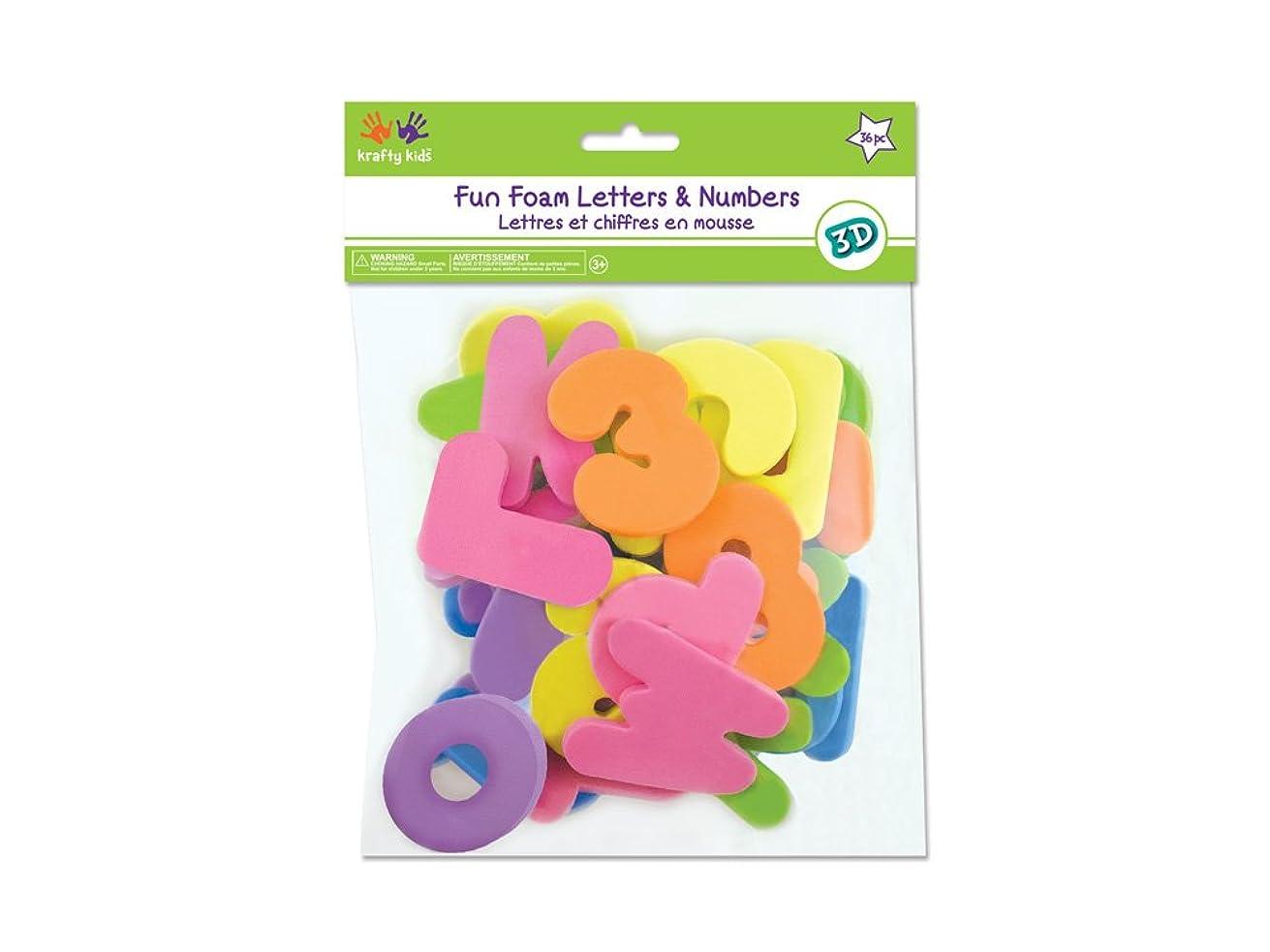 Krafty Kids Foam A to Z's & 1-2-3's, 2.25in x 0.25in, Pastel 2.25