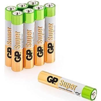 Pilas AAAA – Pack de 8 – Batería alcalina (LR8/LR61/MN2500) por GP ...