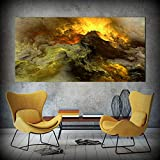 QWESFX Große Leinwand Poster Art Prints Cloud Abstract