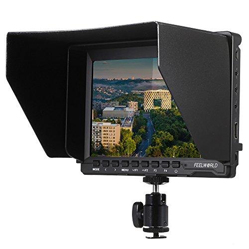 Andoer Feelworld FW74K 7 pollici Ultra HD 1280 * 800 IPS Schermo LCD Supporta 4K UHD 3840 * 2160p Monitor Fotocamera con la Batteria Fibbia Piastra per Panasonic GH4 Sony A7S FS7 BMPCC