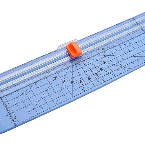 zhaita Paper Trimmer, Portable Paper Trimmer A4 Size Paper Cutter Cutting Machine 12 Inch Cutting Width for Craft Paper Photo Laminated Paper