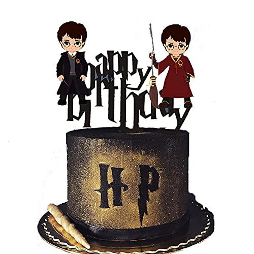 DecoracióN De Fiestas Temá LLMZ 2 pcs Feliz Decoracion Cumpleaños Pastel Decoración Suministros Cake Topper Fiesta de cumpleaños Kit de Guirnalda de Globos