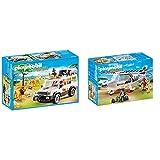 Playmobil Vida Salvaje Vehículo Safari con Leones, Playset de Figuras de Juguete, Multicolor (6798), Miscelanea + Avión por Safari Playset de Figuras de Juguete