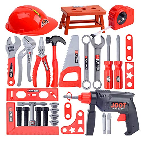 Maril Kids Tool Box Set Simulation Repair Tool Drill Screwdriver Repair Kit House Play Toys Tool Set for Boy And Girl robust advantageous