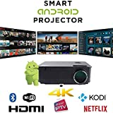 Smart Projector WiFi Smart Android HD Projector Bluetooth Home Cinema Gaming Office Multimedia