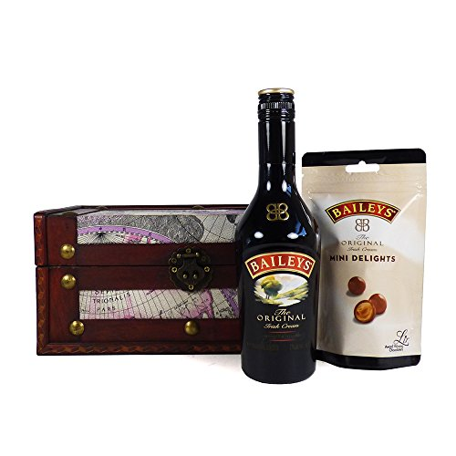 350ml Baileys and Chocolate Lovers Gift Hamper Presented in a Unique Design Gift Box - Gift Ideas for Christmas, Valentines, Mothers Day, Birthday, Wedding, Anniversary, Business, Corporate