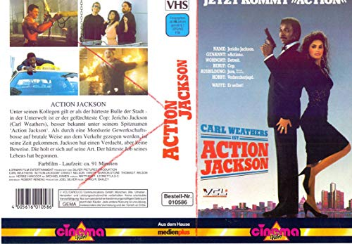 Action Jackson - Carl Weathers - VHS-Einleger A4 - ohne Cassette/Hülle