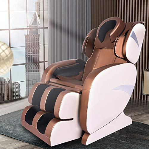 【US in Stock】 Massage Chair, Full Body Air Bag Shiatsu Zero Gravity Massage Chair Recliner, 8D Electric Massage Chair Space Capsule with Bluetooth Back Heater Foot Roller, Automatic Kneading (Claret)
