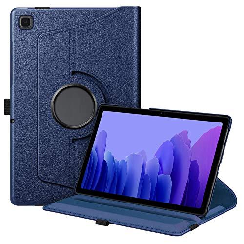 Fintie Funda Giratoria para Samsung Galaxy Tab A7 10.4'' 2020 - Rotación de 360 Grados Carcasa con Auto-Reposo/Activación para Modelo SM-T500/T505/T507, Azul Oscuro