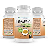 Turmeric Curcumin - 2250mg/d - 180 Veggie Caps - 95% Curcuminoids with Black Pepper Extract (Bioperine) - 750mg Capsules - Most Powerful Turmeric Supplement with Triphala