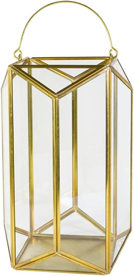 IMIKEYA Tealight Lanterns Metal Geometric C Modern Candle Ranking 70% OFF Outlet TOP15 Holder