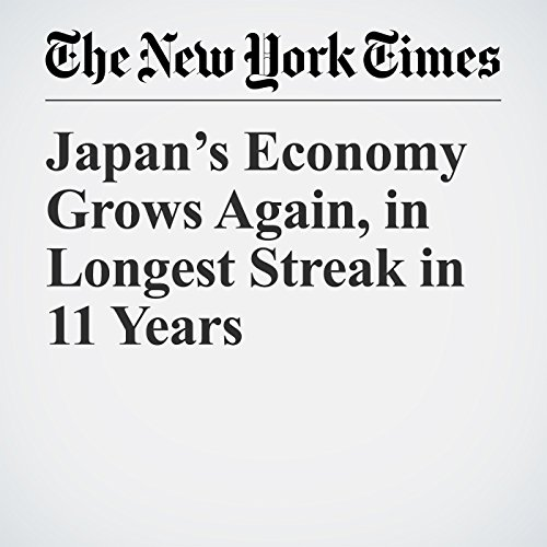 Japan's Economy Grows Again, in Longest Streak in 11 Years copertina