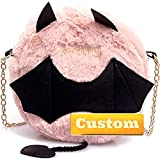 ZZMGDAM Nombre Personalizado Monedero Vegano Acolchado Crossbody Tote Bag Black Fashion Bag Bolsa Mujeres (Color : Pink, Size : One Size)