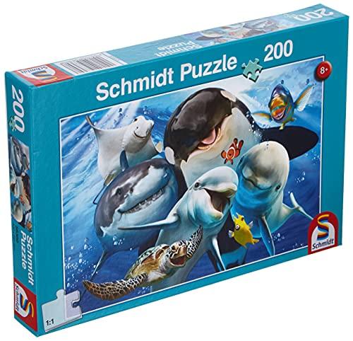 Schmidt Spiele- Puzzle da 200 Pezzi per Gli Amici subacquei, Multicolore, 56360