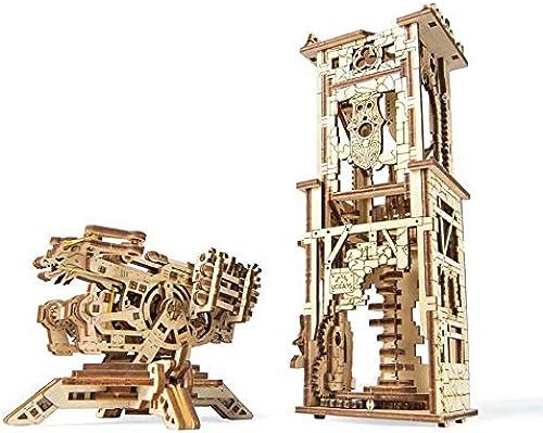 UGEARS Holz mechanisches Getriebe Modell DIY Erwachsene montiert Bausteine  pielzeug Puzzle-15.3  9.5  9.6cm
